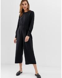 Combinaison pantalon noire Pieces