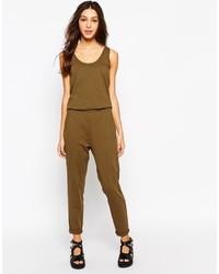 Combinaison pantalon olive Esprit