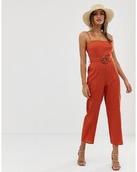 Combinaison pantalon orange ASOS DESIGN