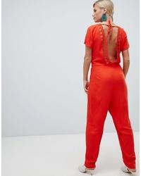 Combinaison pantalon orange Vila