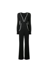 Combinaison pantalon ornée noire Philipp Plein
