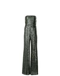 Combinaison pantalon pailletée argentée Alexis
