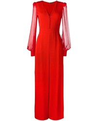 Combinaison pantalon rouge Alexander McQueen