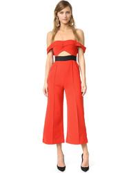 Combinaison pantalon rouge Self-Portrait