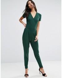 Combinaison pantalon vert foncé Asos