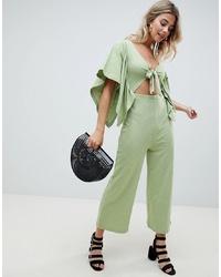 Combinaison pantalon verte ASOS DESIGN