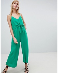 Combinaison pantalon verte New Look