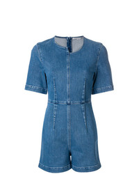 Combishort en denim bleu Stella McCartney