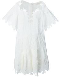 Combishort en lin blanc Chloé