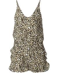 Combishort imprimé léopard marron Stella McCartney