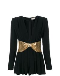Combishort noir et doré Saint Laurent