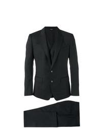 Complet à carreaux noir Dolce & Gabbana