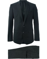 Complet à rayures verticales noir Dolce & Gabbana