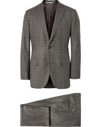 Complet en laine à carreaux gris