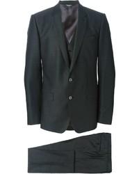 Complet en laine gris foncé Dolce & Gabbana