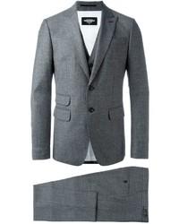 Complet en laine gris foncé DSQUARED2