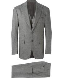 Complet en laine gris Canali