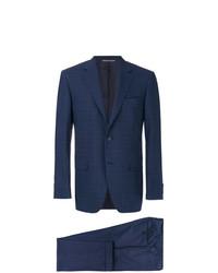 Costume à carreaux bleu marine Canali