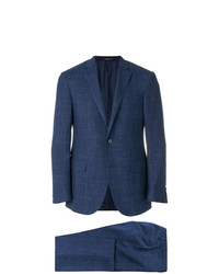 Costume à carreaux bleu marine Corneliani