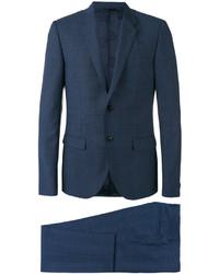 Costume à carreaux bleu marine Versace
