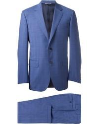 Costume à carreaux bleu Canali