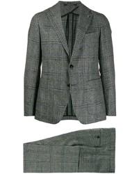 Costume à carreaux gris foncé Tagliatore