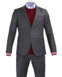 Costume à carreaux gris foncé Tommy Hilfiger