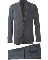 Costume à carreaux gris Armani Collezioni
