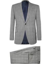 Costume à carreaux gris Huntsman