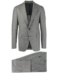 Costume à carreaux gris Tagliatore