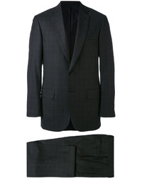 Costume à carreaux noir Brioni