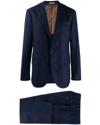 Costume à rayures verticales bleu marine Brunello Cucinelli