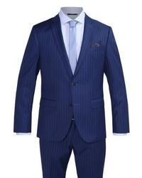 Costume à rayures verticales bleu marine Bugatti