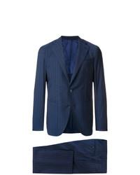 Costume à rayures verticales bleu marine Caruso