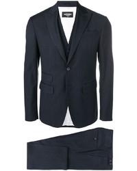 Costume à rayures verticales bleu marine DSQUARED2