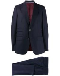 Costume à rayures verticales bleu marine Gucci