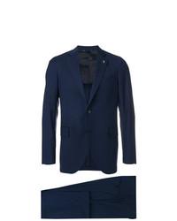 Costume à rayures verticales bleu marine Tombolini