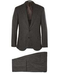 Costume à rayures verticales gris foncé Brunello Cucinelli