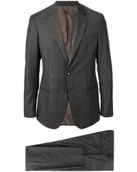 Costume à rayures verticales gris foncé Giorgio Armani