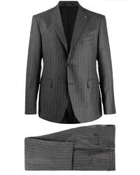 Costume à rayures verticales gris foncé Tagliatore
