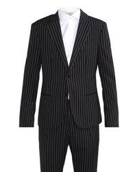 Costume à rayures verticales noir Antony Morato