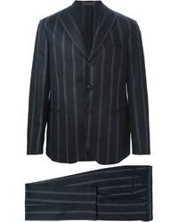 Costume à rayures verticales noir