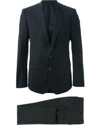 Costume à rayures verticales noir Dolce & Gabbana