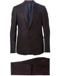 Costume à rayures verticales noir Etro