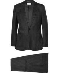 Costume à rayures verticales noir Saint Laurent