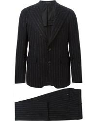 Costume à rayures verticales noir Tagliatore