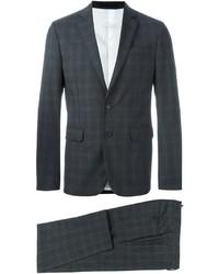 Costume en laine à carreaux gris foncé DSQUARED2