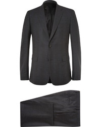 Costume en laine à carreaux gris foncé Givenchy