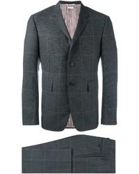 Costume en laine à carreaux gris foncé Thom Browne