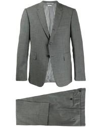Costume en laine à carreaux gris Thom Browne